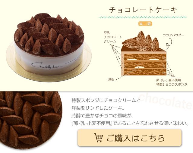 卵・乳・小麦不使用ケーキ チョコレート