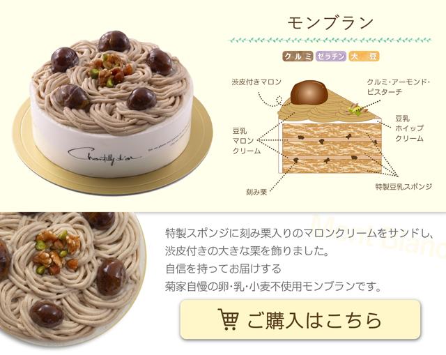 卵・乳・小麦不使用ケーキ モンブラン