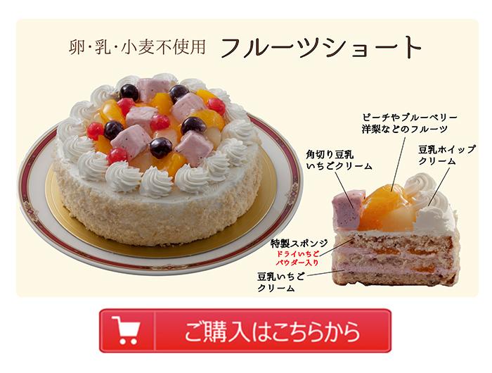 卵・乳・小麦不使用ケーキ